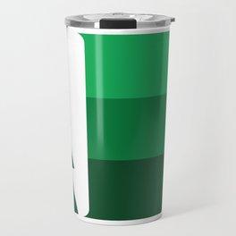 MN Logo - Green Stripes Travel Mug