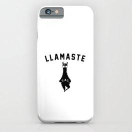 Llamaste. Namaste llama alpaca gift iPhone Case
