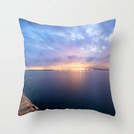 Watching the City lights II Throw Pillow