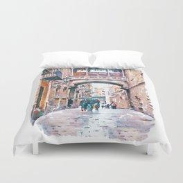 Carrer del Bisbe - Barcelona Duvet Cover
