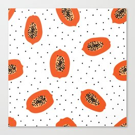 Papaya Canvas Print