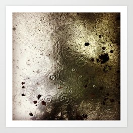 Rain & Leaves Art Print