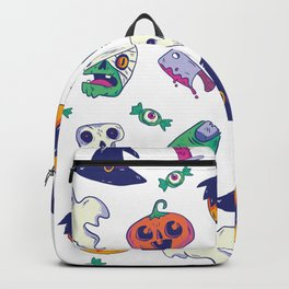 ghostly halloween pattern Backpack