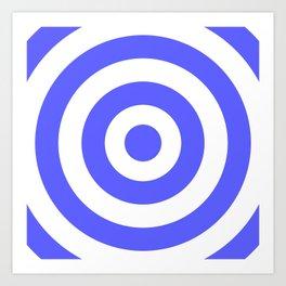 Target (Azure & White Pattern) Art Print