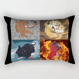 The Elemental Fiends Rectangular Pillow