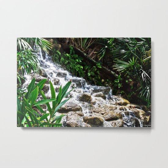 Garden Waterfall Metal Print