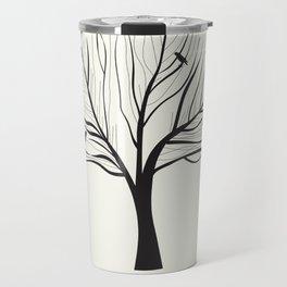 Black Birds in a Winter Tree Travel Mug