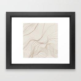 Canyon Lines II Framed Art Print