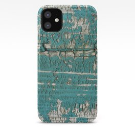 Rustic Wood Turquiose Paint Weathered iPhone Case