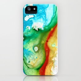 Colorful Abstract Art - Captured - By Sharon Cummings iPhone Case