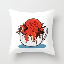 Served with Octopus Throw Pillow