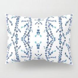 Vines Kaleidoscope (blue on white) Pillow Sham