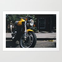 ducati Art Prints featuring Ducati Motorcycle by bill bill