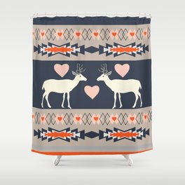 Romantic deer Shower Curtain