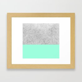 Happy Mint + Frost Framed Art Print