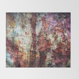 Multicolored Rust rustic decor Throw Blanket