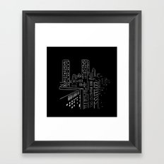 City nights, city lights Framed Art Print