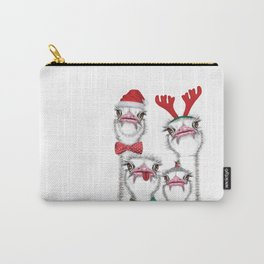 Christmas family ostrich Carry-All Pouch