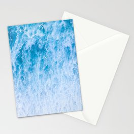 Beautiful Blue Ocean Waves Stationery Cards