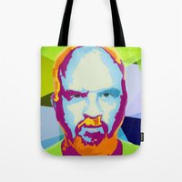 louis ck Tote Bags featuring Louis CK by Danielle DePalma