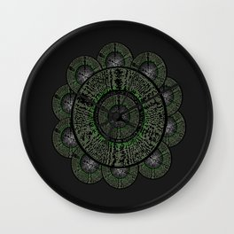 The Grey Flower Wall Clock