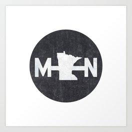 Minnesota Logo MN Art Print