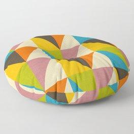 Retro Color Block Chevron Color Fun Floor Pillow