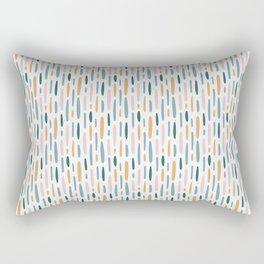 Modern minimal simple stains stripes painting urban pattern Rectangular Pillow