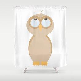 Owlie Little Owl Hatchling Shower Curtain
