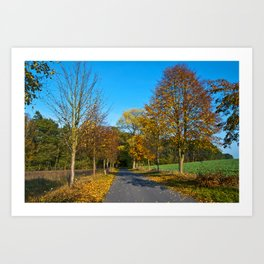 Autumnal feeling of October Art Print