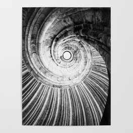 Sand stone spiral staircase Poster