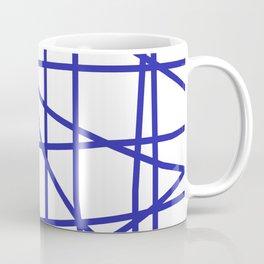Doodle (Navy Blue & White) Coffee Mug
