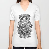 rome V-neck T-shirts featuring Rome by DIVIDUS