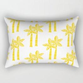Palm Tree Pattern Yellow Rectangular Pillow