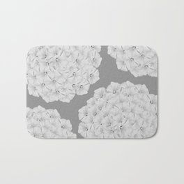 Flowerpower - Flower Balls On A Grey Background - #society6 Bath Mat