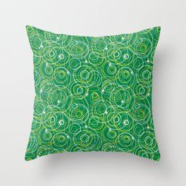 Holiday Fizz in Green Throw Pillow
