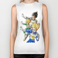 vegeta Biker Tanks featuring vegeta family tree by Unic art