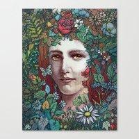 flora Canvas Prints featuring Flora by Alvaro Arteaga