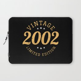 Vintage 2002 Birthday Gift B-day Present Party Laptop Sleeve