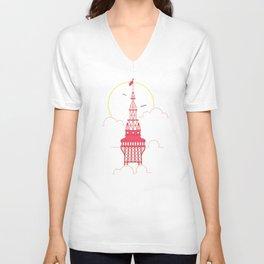 The Blackpool Tower Unisex V-Neck