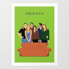Friends Minimalist poster Art Print