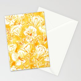 CALI POP Yellow California Poppies Stationery Cards