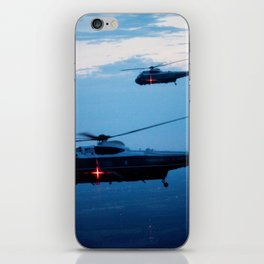 Support Helicopters Fly at Dusk iPhone Skin