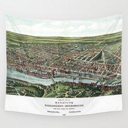 Map of Manayunk Philadelphia Pensylvania United States-1907 Wall Tapestry