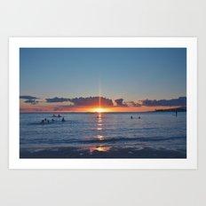 Hawaii Sun Ray Art Print