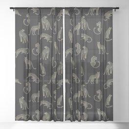 Leopard Pattern Sheer Curtain