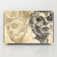 calavera iPad Cases featuring Calavera - two by Fresh Ink