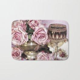 Wine And Roses Bath Mat