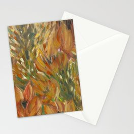 Floral orange print Stationery Cards