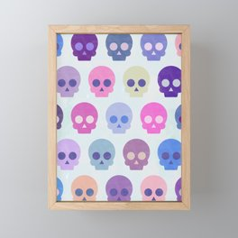 Colorful Skull Cute Pattern III Framed Mini Art Print